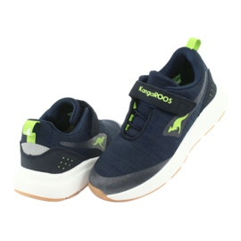 KangaROOS sports shoes with Velcro 18508 navy / lime green 4