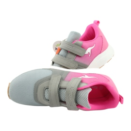 KangaROOS sports shoes with Velcro 18506 gray / neon pink grey 6