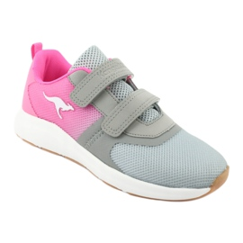 KangaROOS sports shoes with Velcro 18506 gray / neon pink grey 1