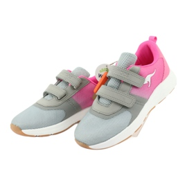 KangaROOS sports shoes with Velcro 18506 gray / neon pink grey 3