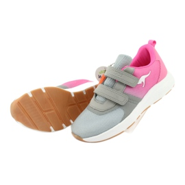 KangaROOS sports shoes with Velcro 18506 gray / neon pink grey 5