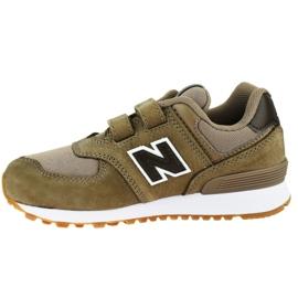 New Balance Jr YV574PRB shoes brown 1
