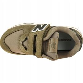 New Balance Jr YV574PRB shoes brown 2