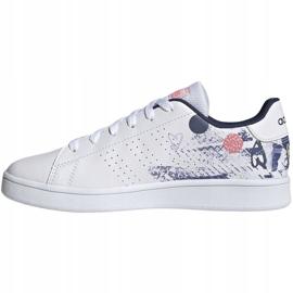 Adidas Advantage K Jr EG2000 shoes white 2