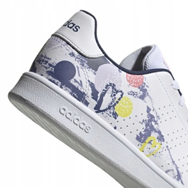 Adidas Advantage K Jr EG2000 shoes white 4