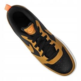 Nike Court Borough Low 2 Jr BQ5448-004 shoes black yellow 4