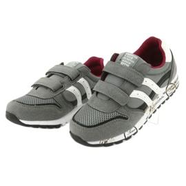 American Club American Boys' Gray Club Sports Shoes ES02 white black red grey 3