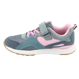 American Club BS12 blue sports shoes pink grey 2