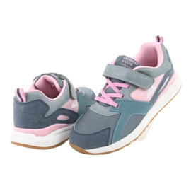 American Club BS12 blue sports shoes pink grey 4