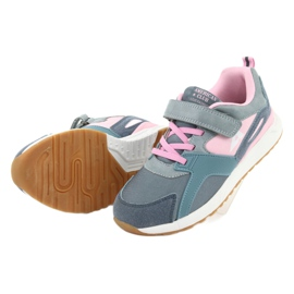 American Club BS12 blue sports shoes pink grey 5