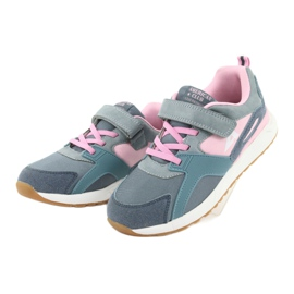 American Club BS12 blue sports shoes pink grey 3