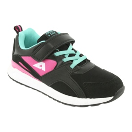 Black American Club BS12 sports shoes pink green 1