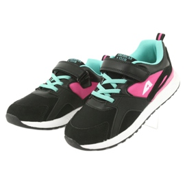 Black American Club BS12 sports shoes pink green 3