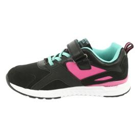Black American Club BS12 sports shoes pink green 2
