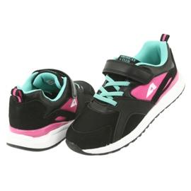 Black American Club BS12 sports shoes pink green 4