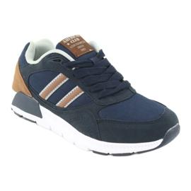 American Club BS10 Navy Blue Sport Shoes brown 1