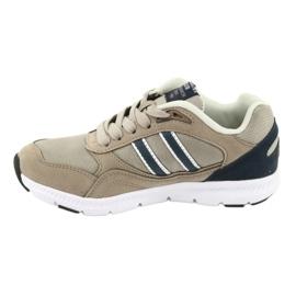 American Club BS10 Beige Sport Shoes white brown navy 2
