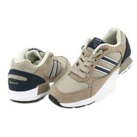 American Club BS10 Beige Sport Shoes white brown navy 4