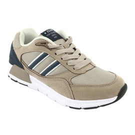 American Club BS10 Beige Sport Shoes white brown navy 1