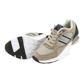 American Club BS10 Beige Sport Shoes white brown navy 5
