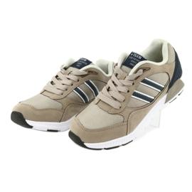 American Club BS10 Beige Sport Shoes white brown navy 3