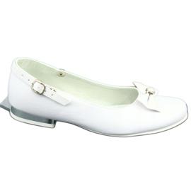 Miko 806 white communion ballerinas grey 4
