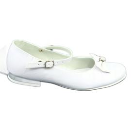 Miko 806 white communion ballerinas grey 5