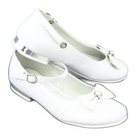 Miko 806 white communion ballerinas grey 6