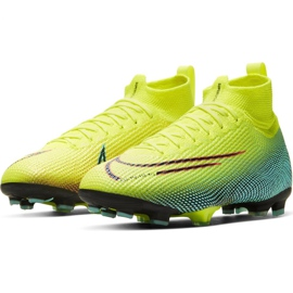 Nike Mercurial Superfly 7 Elite Mds Fg Jr BQ5420-703 football shoes yellow yellow 3