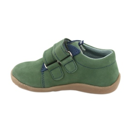 Velcro leather shoes Mazurek 305 green navy 2
