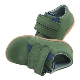 Velcro leather shoes Mazurek 305 green navy 6