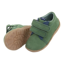 Velcro leather shoes Mazurek 305 green navy 5