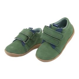 Velcro leather shoes Mazurek 305 green navy 3
