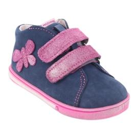 Blue Mazurek 264 butterfly boots navy pink 1