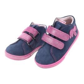 Blue Mazurek 264 butterfly boots navy pink 3