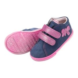 Blue Mazurek 264 butterfly boots navy pink 5