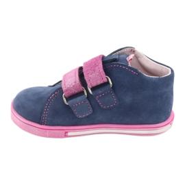 Blue Mazurek 264 butterfly boots navy pink 2