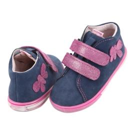 Blue Mazurek 264 butterfly boots navy pink 4