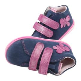 Blue Mazurek 264 butterfly boots navy pink 6