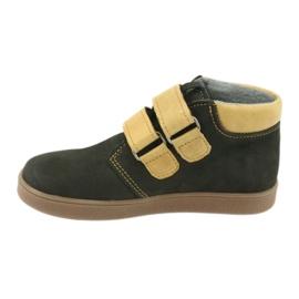 Leather shoes Velcro Mazurek 1341 black multicolored yellow 2