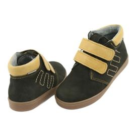 Leather shoes Velcro Mazurek 1341 black multicolored yellow 4