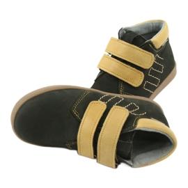 Leather shoes Velcro Mazurek 1341 black multicolored yellow 6