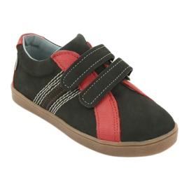 Boys' Velcro shoes Mazurek 1235 black red 1
