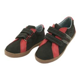 Boys' Velcro shoes Mazurek 1235 black red 3