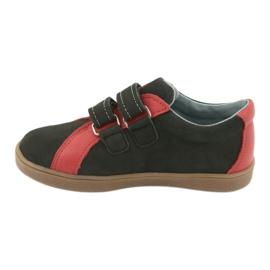 Boys' Velcro shoes Mazurek 1235 black red 2