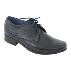 Gregors 429 navy blue communion slippers 1