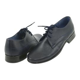 Gregors 429 navy blue communion slippers 4