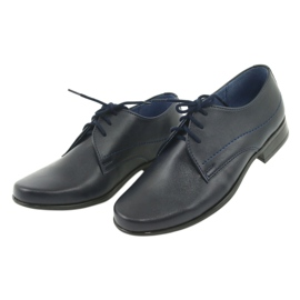 Gregors 429 navy blue communion slippers 3