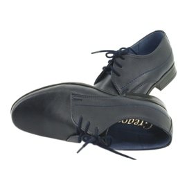 Gregors 429 navy blue communion slippers 6