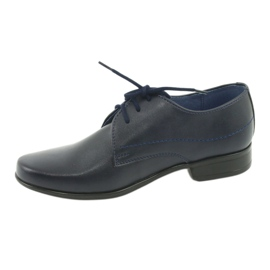Gregors 429 navy blue communion slippers 2